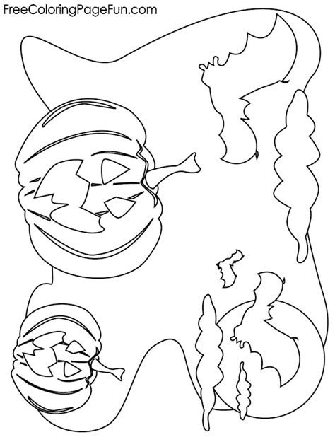 bats and pumpkins coloring pages free halloween coloring pages halloween pumpkins and bats