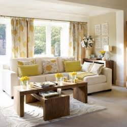 Living Room In Grey And Yellow Yellow And Gray Curtains Contemporary Living Room