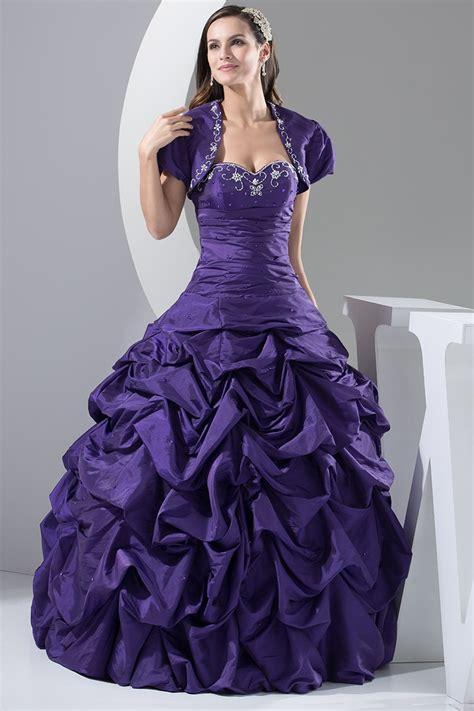 custom grape purple taffeta ballgown formal dress