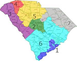 carolina senate district map south carolina congressional district map map