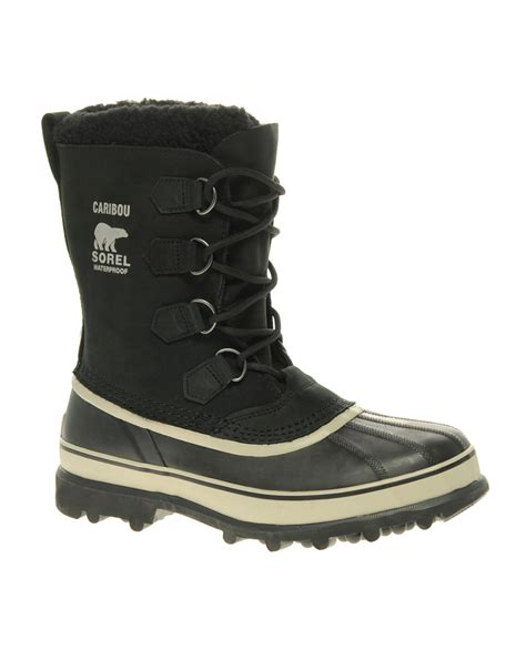 boots brands sorel caribou in black for lyst