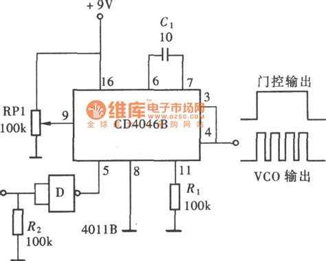 Quantitative Pulse Output Circuit With CD4046   Basic