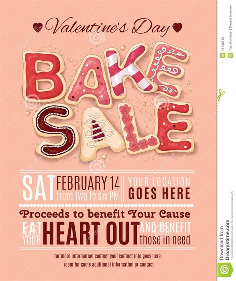free bake sale flyer templates valentines day bake sale flyer template from