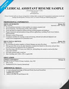 Clerical Resume Templates by Clerical Aide Sle Resume Clerical Resume