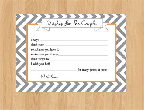 Wedding Wishes And Advice Cards by And Groom Digital Advice Cards Wedding Well By