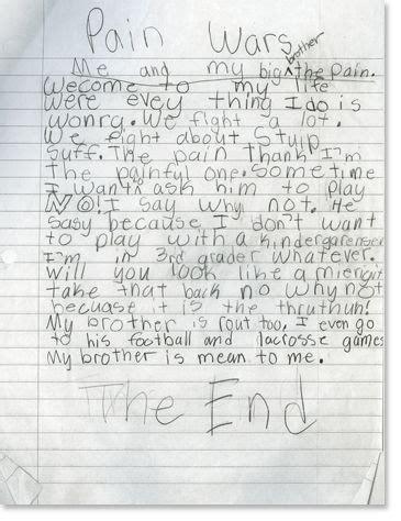 3rd Grade Writing Samples Writing Pinterest Third