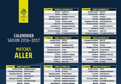 Calendrier Psg Foot 2016 T 233 L 233 Charger Calendrier Ligue 1 2016 2017 Pour Windows