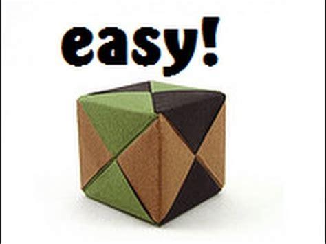 Origami Cube 6 Pieces - origami sonobe cube tutorial