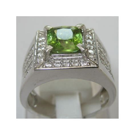 Peridot In Silver Ring With Memo cincin pria batu permata peridot silver 925 ring 8 5 us