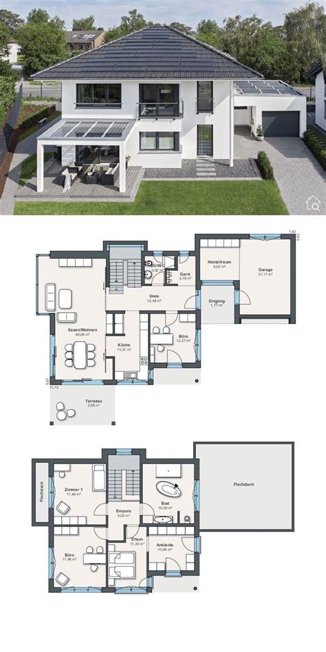 blog stadtvilla grundriss modern mit garage