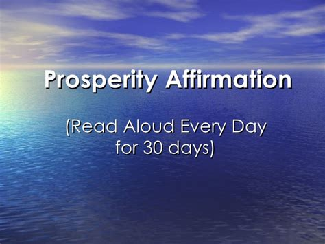 secret of day the secret of attraction prosperity affirmation
