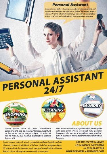 Personal Assistant Psd Flyer Template 8349 Styleflyers Personal Flyer Template