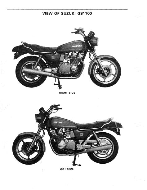 Suzuki Motorcycles Service Suzuki Gs 1100 Motorcycle Repair Manual 1979 1980 1981