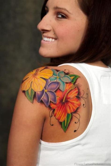 tattoo shoulder colour 80 excellent flowers tattoos on shoulder