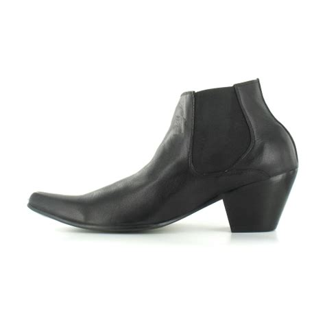 mens chelsea boots cuban heel paolo vandini wi veer3 mens leather cuban heel chelsea