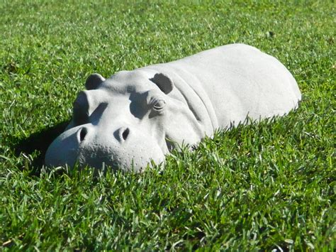 hippo garden ornament hippopotamus sculpture 17 long