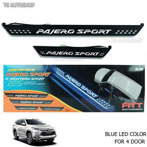 List Sillplate Led Pajero Sport for mitsubishi pajero sports montero 16 17 fitt blue led scuff plate sill cover ebay