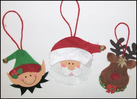 pattern felt christmas ornaments felt christmas ornament craft kit for kids santa elf