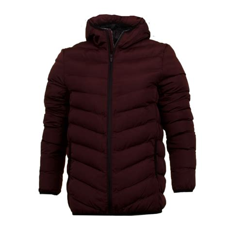 plain padded jacket mens coat hooded quilted plain padded puffer jacket