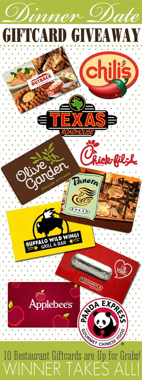 Win Restaurant Gift Cards - best 20 restaurant gift cards ideas on pinterest