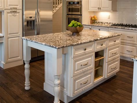 Kitchen Island On Wheels South Africa by White Wooden Kitchen Island With Grey Granite Countertop