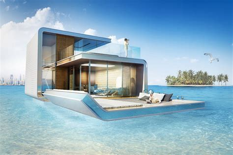 Building Kitchen Island by Floating Villas In Dubai With Underwater Bedrooms Is Beautiful