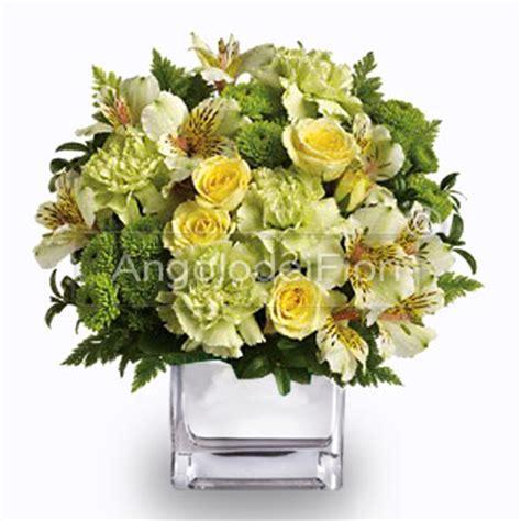 composizioni in vaso fiori gialli in vaso regalo di compleanno
