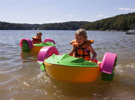 Cildren Boat pedal boats for watercrafts and sports equipment rental at vranov