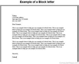 what is block letter