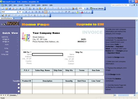 invoice template software creating a service invoice templatebusinessprocess