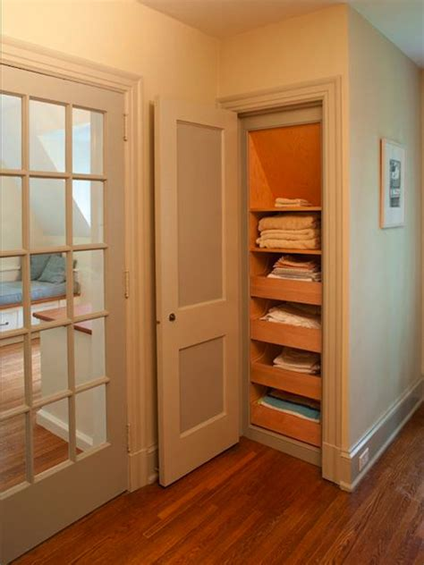 Pull Out Drawers For Closet replace shelves with pull out drawers in linen closet