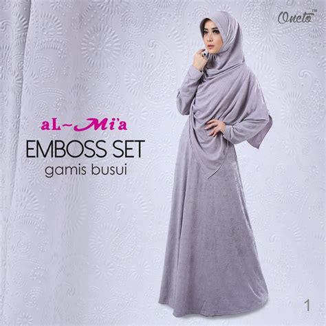 Gamis Almia almia embos by oneto pusat grosir jilbab modern