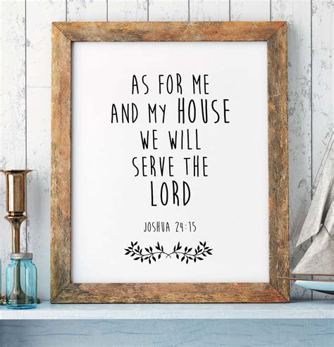 bible verses for the home decor bible verse print joshua 24 15 scripture print christian