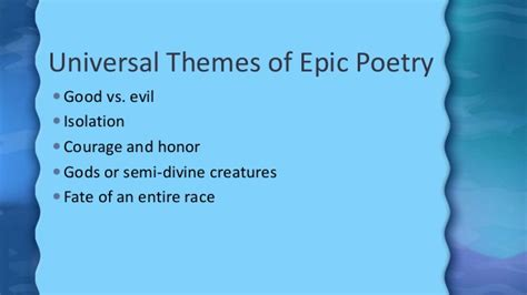 literary themes of beowulf beowulf background and literary elements ppt