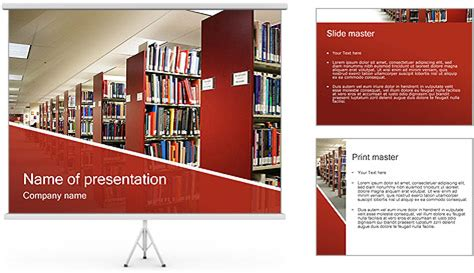 library powerpoint template library powerpoint template backgrounds id 0000000720