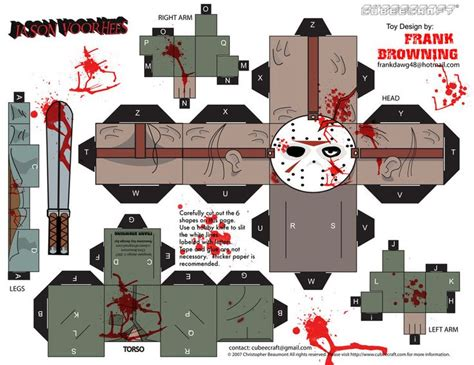Papercraft Toys - jason voorhees cubee by frankdawg48 deviantart on