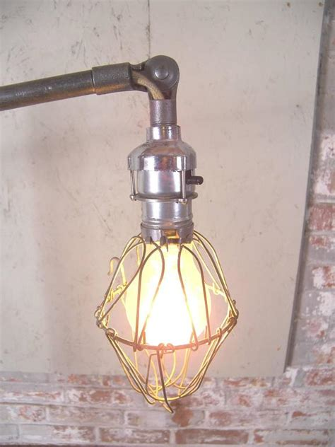 Edison Bulb Floor L Caged Edison Bulb Reading L Vintage Industrial Cast Iron Floor Light For Sale At 1stdibs