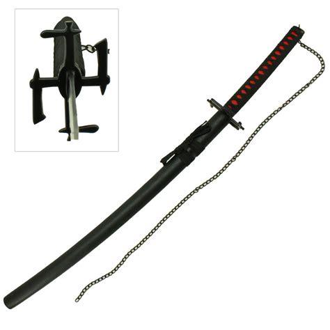 Indo Pedang Samurai Katana Ichigo Bankai Black ichigo bankai zanpakuto handmade anime sword heavenly swords