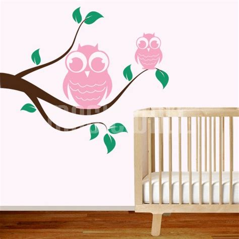 Owl Wall Decals For Nursery Wall Decals Owl Branch Nursery Wall Stickers Canada