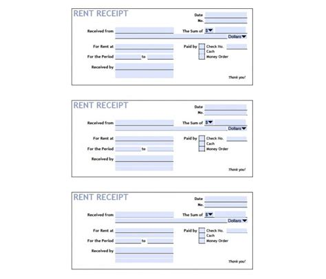 printable rent receipt sle 25 free receipt templates for microsoft excel and word