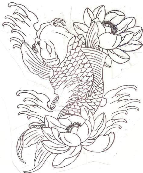 koi fish tattoo stencil 30 koi fish tattoo designs with meanings