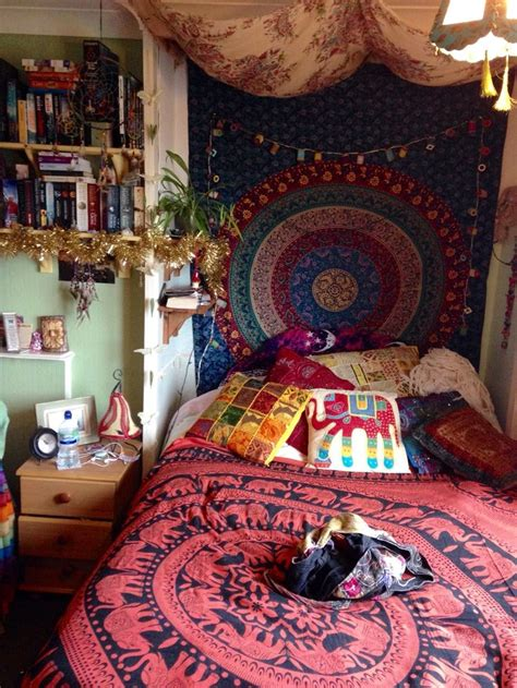hippy bedroom lunar amethyst bvddhist f0xbaby room goals organic spiritual hippie nature