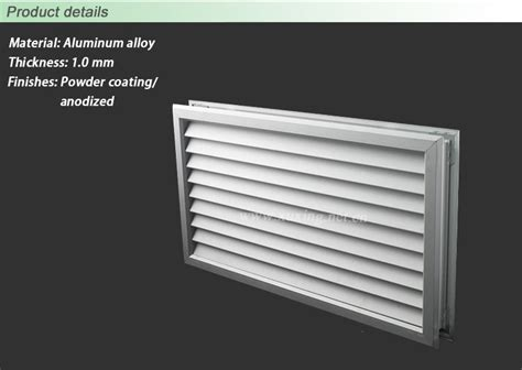 Door Vents Door Vents 700tl Flush Mounted Louver For Transoms Quot Quot Sc