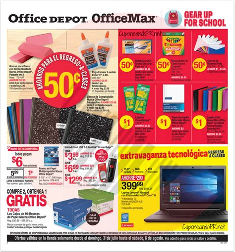 Office Depot Coupons Puerto Rico Officemax Officedepot Shopper P1 Cuponeando Pr
