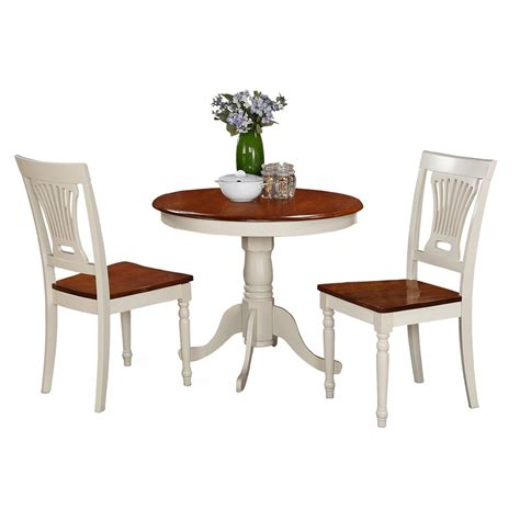 Antique Dining Table Set East West Furniture Antique 3 Pedestal Dining Table Set With Plainville Wooden Seat