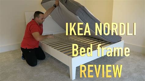 nordli bed frame with storage review ikea nordli double bed review youtube