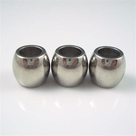 stainless steel beading stainless steel 6 5mm smooth barrel bead for