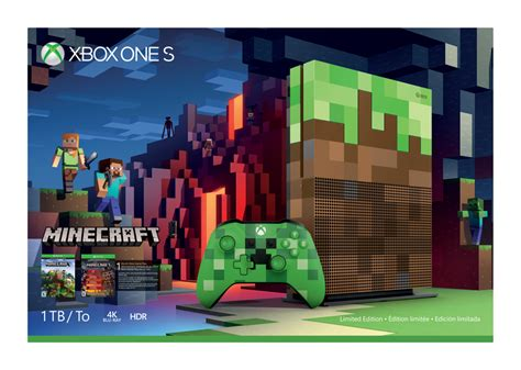 minecraft console minecraft xbox one s limited edition console will join