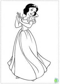 snow white coloring dinokids org