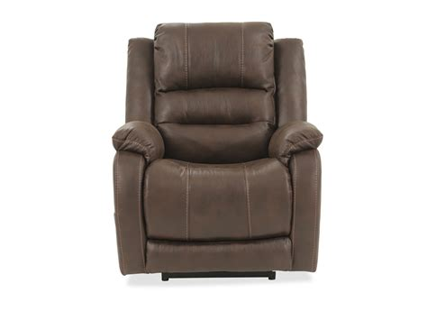 recliners power ashley walnut barling power recliner mathis brothers